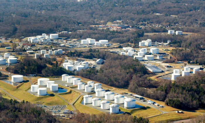 Holding tanks are seen at Colonial Pipeline's Charlotte Tank Farm in Charlotte, N.C, in an undated photo. (Colonial Pipeline/Handout via Reuters)