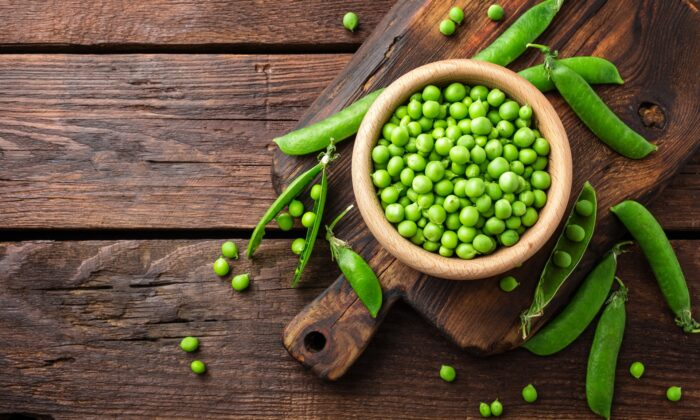 Garden peas, in season now, add bright color and sweet, delicate spring flavor to all kinds of recipes. (Sea Wave/shutterstock)