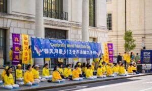 UK Falun Gong Practitioners Celebrate World Falun Dafa Day