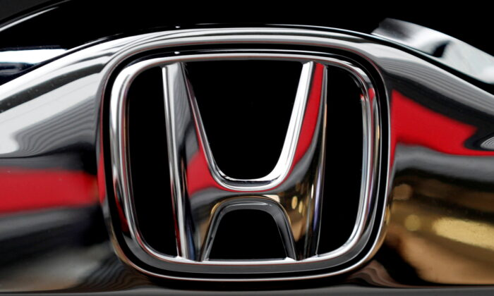 Honda's logo is pictured at its headquarters in Tokyo on Feb. 19, 2019. (Kim Kyung-hoon/Reuters)