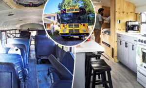Florida Family Turn Old School Bus Into Home on Wheels, Plan 1 Year Trip After Dad Lost Job
