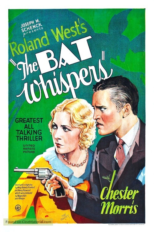 The Bat Whisper (1930) Movie Poster. United Arts Picture