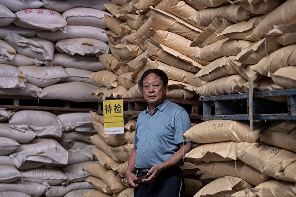 Chinese entrepreneur Sun Dawu in a feed warehouse in his Dawu Group in Hebei province, on Sept. 24, 2019. (Noel Celis/AFP via Getty Images)