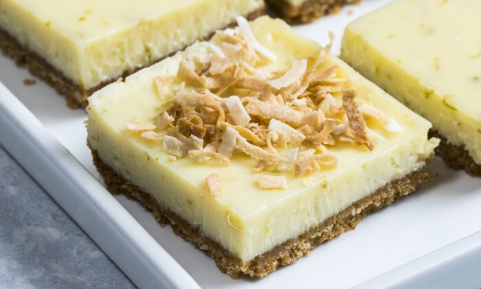 Fresh lime juice gives the bars great flavor. (Elle Simone)