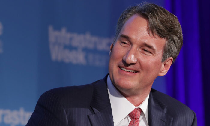 Glenn Youngkin, the then-COO of the Carlyle Group, participates in an event in Washington on May 15, 2017. (Chip Somodevilla/Getty Images)