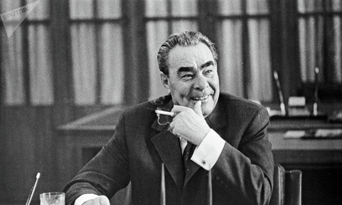 Soviet leader Leonid Brezhnev, on Oct. 1, 1973. (CIA via Wikimedia Commons)