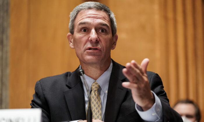 Ken Cuccinelli on Capitol Hill in Washington on Sept. 24, 2020. (Joshua Roberts-Pool/Getty Images)