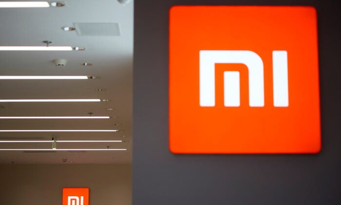 The Xiaomi logo is seen at a Xiaomi shop in Shanghai, China, on May 12, 2021. (Aly Song/Reuters)