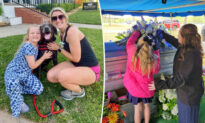 Jogger and Dog Comfort Heartbroken Child Outside Father's Funeral Before Being Invited In
