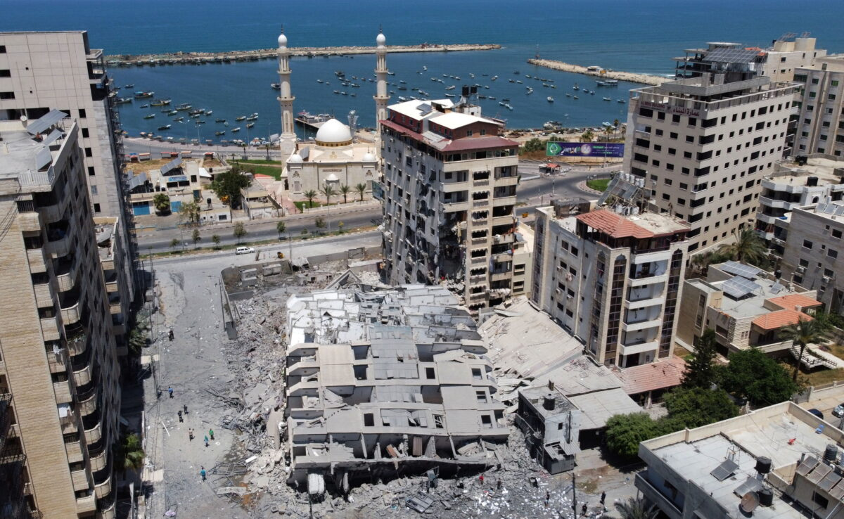 hamas-building-collapsed