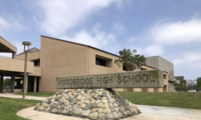 A teacher at Woodbridge High School in Irvine, Calif., is in the running for a presidential teaching award. (Vanessa Serna/The Epoch Times)