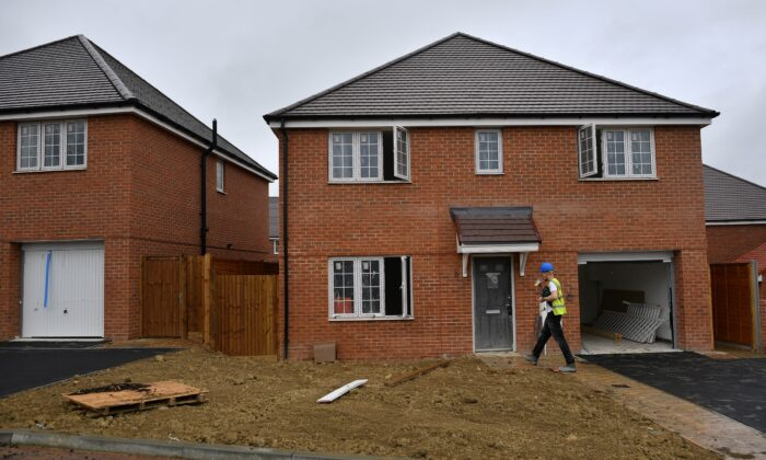 A new build home is pictured in Paddock Wood, Kent, in southeast England, on June 30, 2020. (Ben Stansall/AFP via Getty Images)