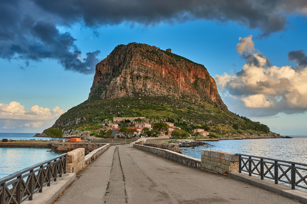 Impressive,View,Of,The,Great,Rock,Of,Monemvasia,Island,And