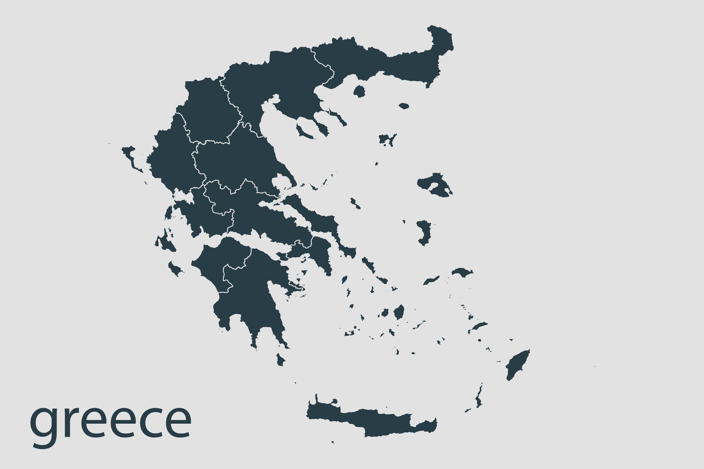 Greece,Map,Vector,,Abstract,Design,Vector,Illustration,Eps,10.,Navy