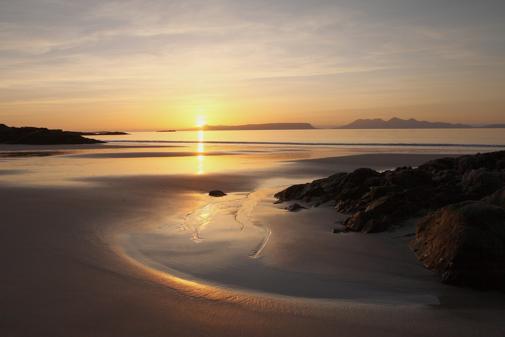 Sunset,Over,The,Isles,Of,Rum,And,Eigg.