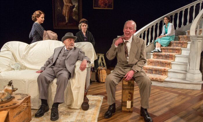 """(Foreground L–R) Katie Firth, George Morfogen, Barbara Eda-Young, and Jonathan Hogan star in """"A Picture of Autumn."""" (Richard Termine)"""