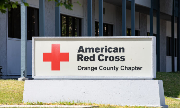 The American Red Cross Orange County Chapter in Santa Ana, Calif., on May 14, 2021. (John Fredricks/The Epoch Times)