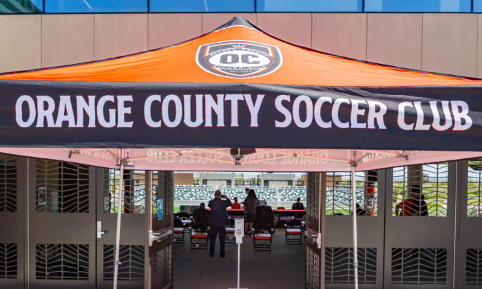 The Orange County Soccer Club meets in Irvine, Calif., on May 14, 2021. (John Fredricks/The Epoch Times)