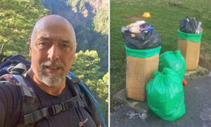 64-Year-Old Trash Picker 'In Tears' After Teens Help and Pledge to Clean Up Litter