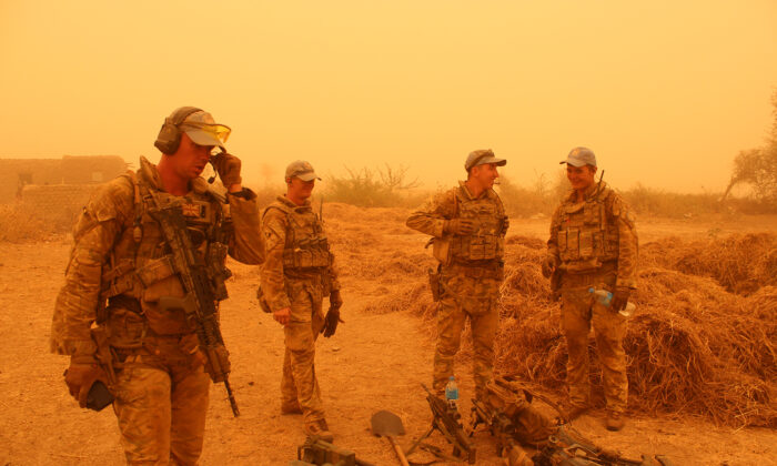 UK troops have battled a sandstorm to seize a cache of weapons hidden by terrorists in Mali. (Ministry of Defence/PA)