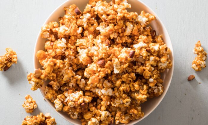 The hardest part of this recipe is waiting for your caramel popcorn to cool before you eat it! (Kendra McKnight)