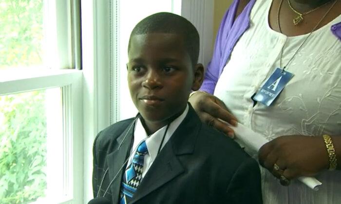 Damon Weaver, the child reporter who interviewed former President Barack Obama in 2009. (White House/Screenshot via NTD)