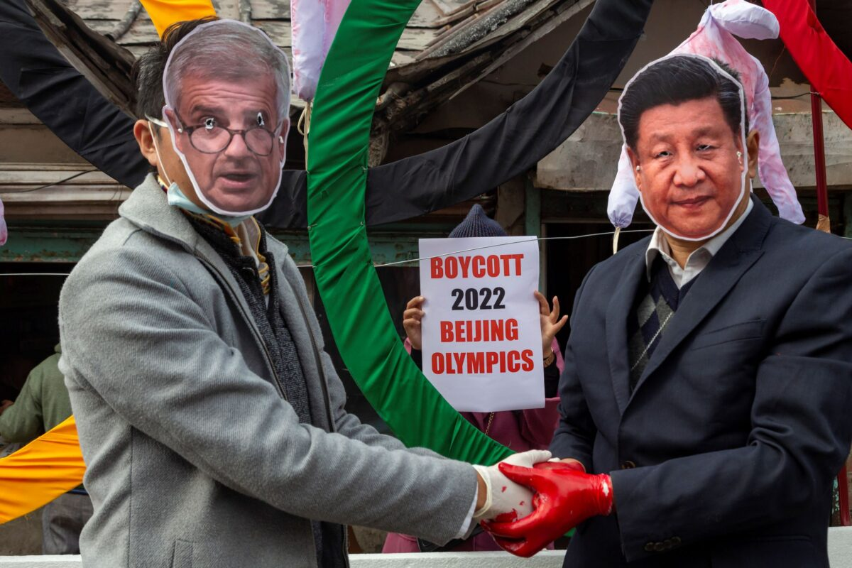 protest against Beijing Winter Olympics