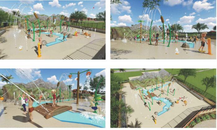 Renderings of a new Central Park Splash Pad in Rancho Santa Margarita, Calif. (Courtesy of Brad McGirr)