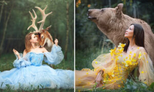Russian Photographer Captures Almost Magical Scenes of Humans and Beasts Interacting