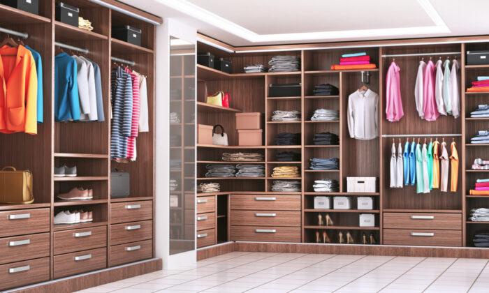 A walk-in closet is a pretty simple do-it-yourself project. (studiovin/Shutterstock)