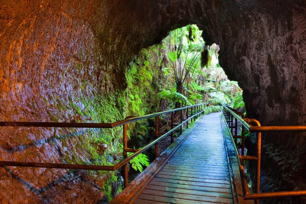 Entrance,To,Thurston,Lava,Tube,In,Hawaii,Volcanoes,National,Park