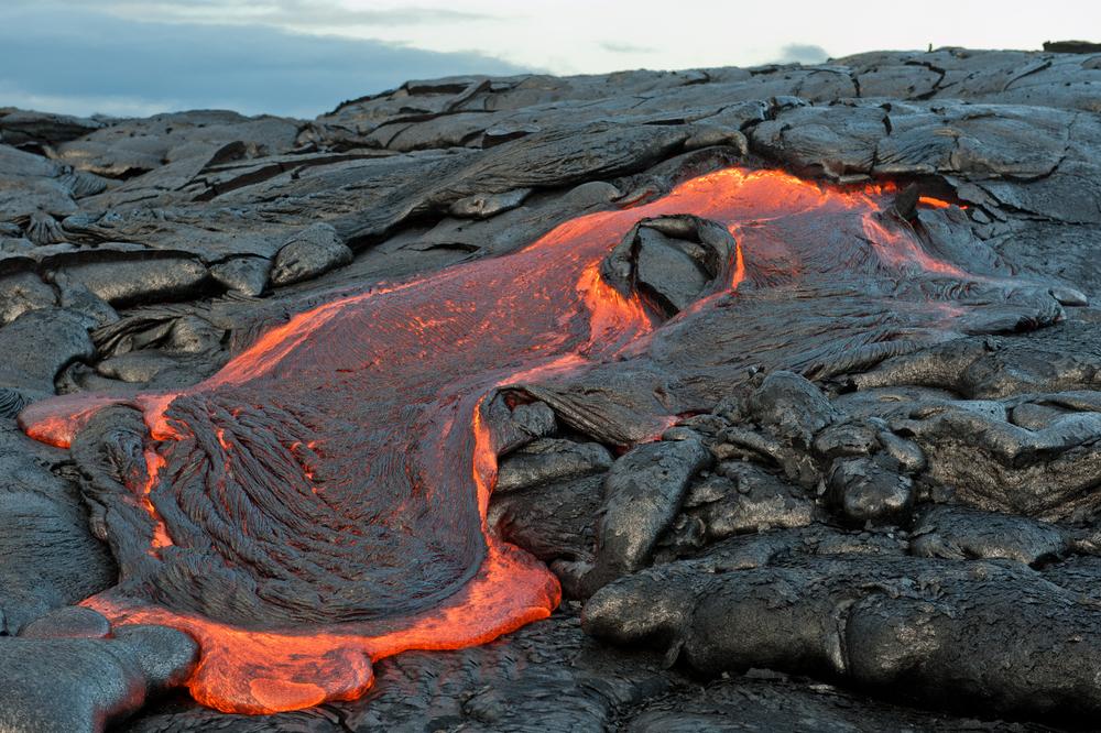 Lava,Flow,At,Hawaii,Volcano,National,Park