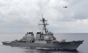 US Warship Again Sails Through Taiwan Strait, Prompting Anger From Beijing