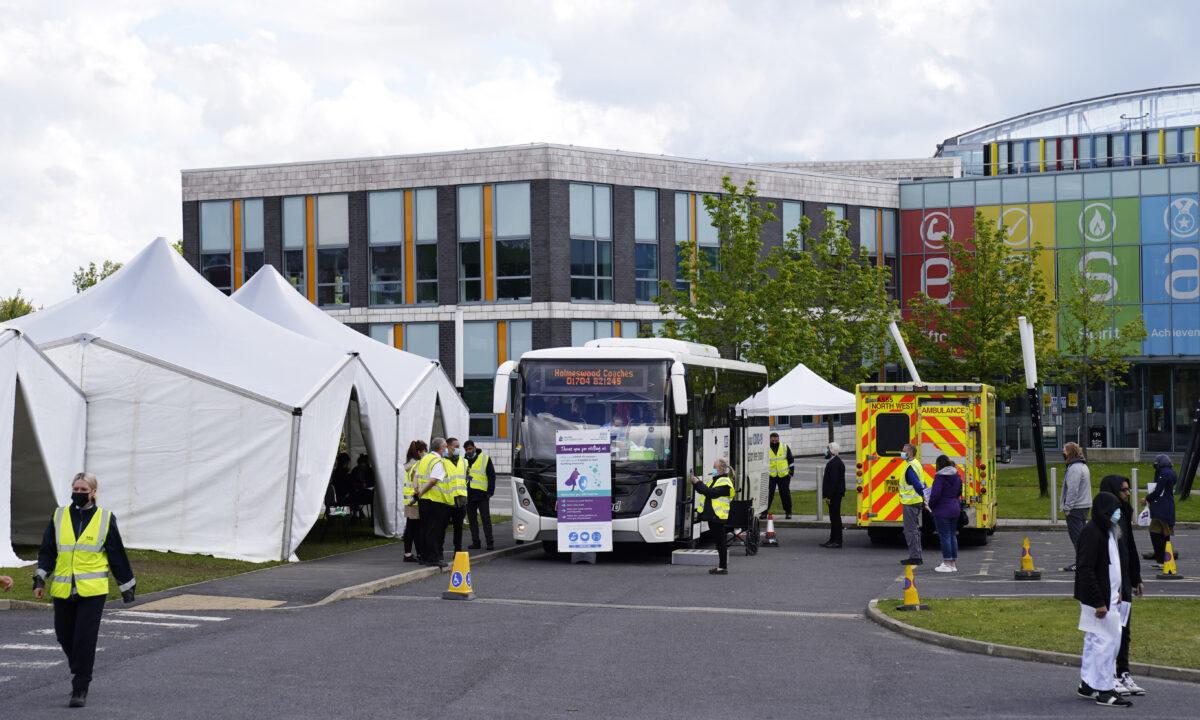 Bolton UK surge vaccination