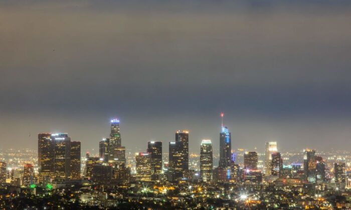 The Los Angeles skyline is seen from Griffith Observatory on April 18, 2020 in Los Angeles, California. (Photo by Apu GOMES / AFP) (Photo by APU GOMES/AFP via Getty Images)
