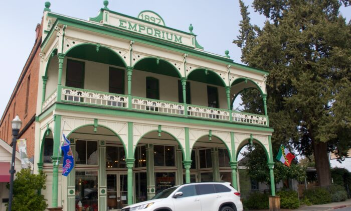 A freshly painted store from 1897 in California's Gold Country. (Courtesy of Karen Gough)