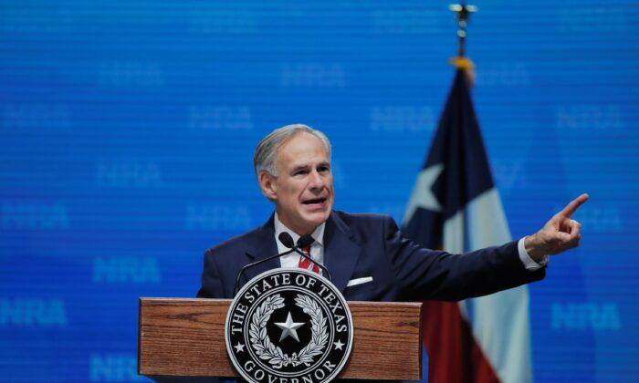 Texas Gov. Greg Abbott speaks in a file photograph. (Lucas Jackson/Reuters)