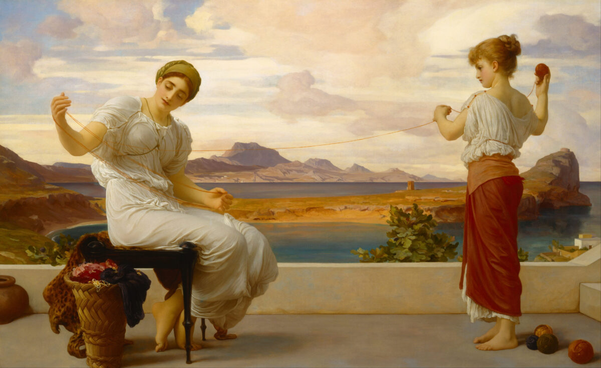 Lord_Frederic_Leighton_-_Winding_the_skein