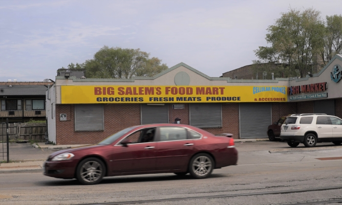 Big Salem's Food Mart in Chicago, Illinois, on May 20, 2021. (Cara Ding/Epoch Times)