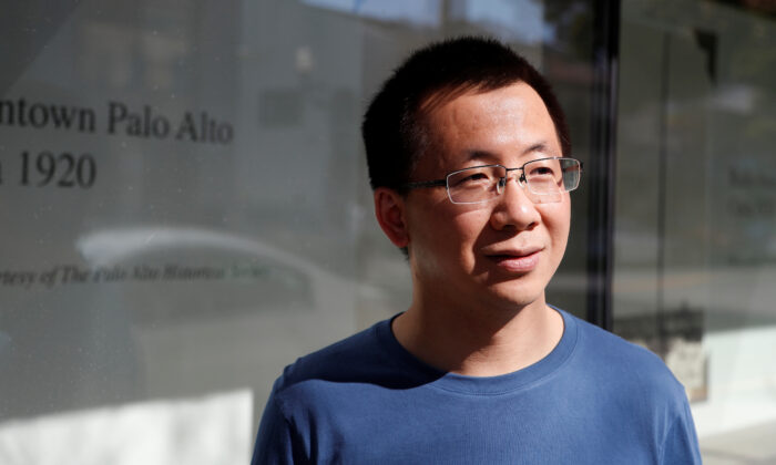 Zhang Yiming, founder and global CEO of ByteDance, poses in Palo Alto, California, U.S., March 4, 2020. Picture taken March 4, 2020.  (Shannon Stapleton/Reuters)