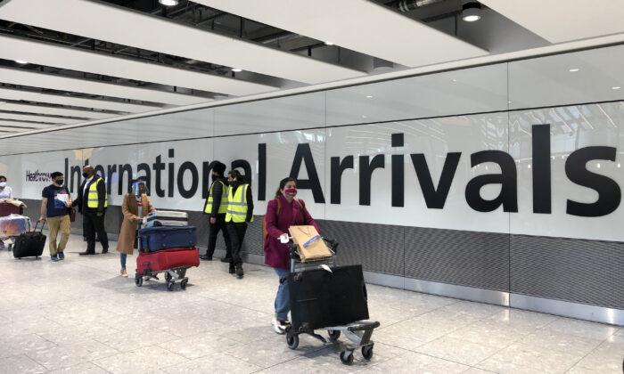 Heathrow airport quarantine