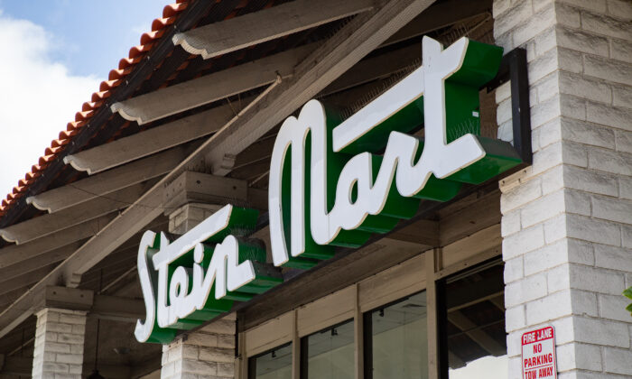 An empty Stein Mart store in Mission Viejo, Calif., on May 20, 2021. (John Fredricks/The Epoch Times)