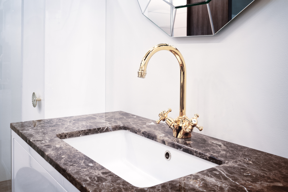 Bathroom,Classic,Interior,With,Sink,And,Classic,Retro,Style,Faucet