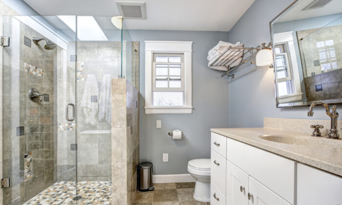 A new color scheme instantly changes the mood of a room. Pale blues, greens, and grays are popular picks for their calming, spa-like qualities. (Artazum/Shutterstock)