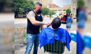 Brother Barbers Cut Hair for the Homeless, Veterans, Credit Success to Single Mom Who Raised Them
