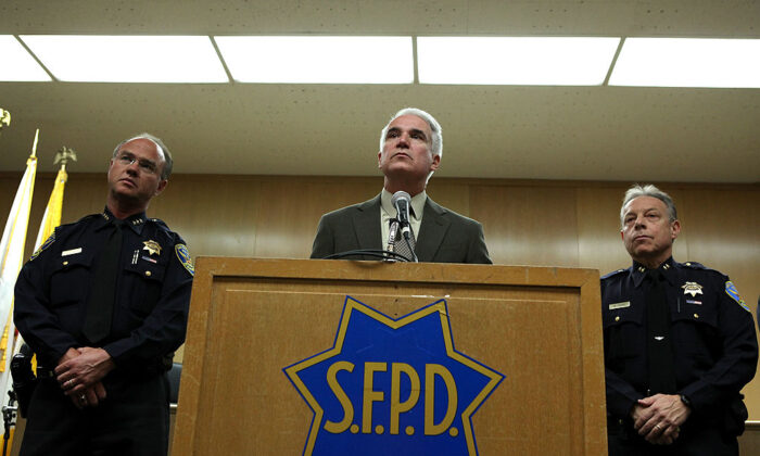 New San Francisco police Chief George Gascón fields a question during a first news conference Aug. 11, 2009, at the Hall of Justice in San Francisco. (Justin Sullivan/Getty Images)