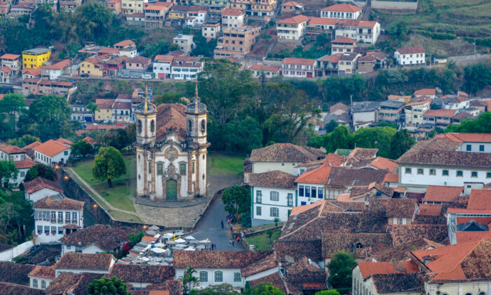 The Brazilian town of Ouro Preto originated in the 17th century, when in 1693 gold was discovered in the region. Most of the town's architecture reflects its colonial Portuguese heritage. (Robert Napiorkowski/Shutterstock)