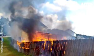 Biker Becomes a Firefighter as House Almost Burns Down