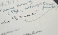 Handwritten Example of Famous Einstein Equation Gets $1.2 Million