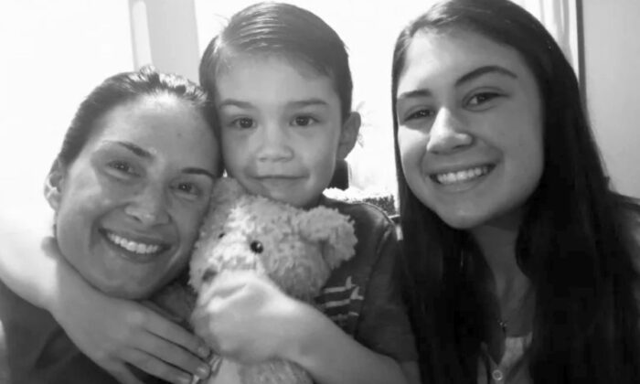 Aiden Leos (center) died after being shot while being driven by his mother in Orange, California (GoFundMe)